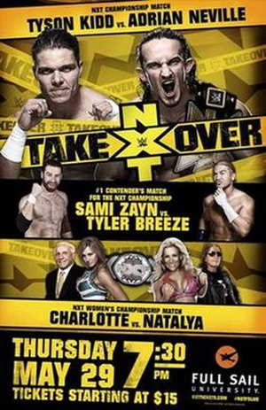 NXT TakeOver - Promotional poster featuring various NXT wrestlers