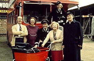On the Buses - The characters of On the Buses (left to right): Arthur, Olive, Stan, Mum, Jack and Blakey