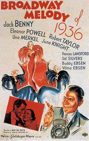 Broadway Melody of 1936 - original film poster