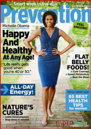 Prevention (magazine) - Michelle Obama on the cover of the November 2009 issue of Prevention