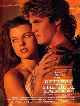 Return to the Blue Lagoon - Theatrical release poster