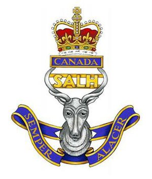 South Alberta Light Horse - Image: SALH Cap Badge logo