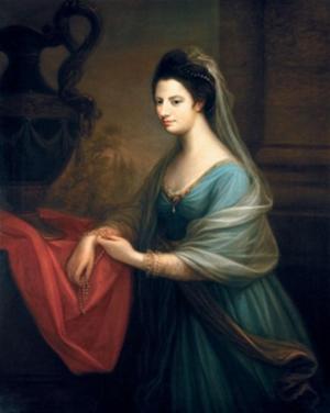 Sarah Sophia Banks - Portrait by Angelica Kauffman
