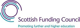 The Scottish Funding Council's English-language logo.