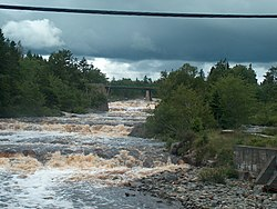 West River Falls, where the West River empties into the Northwest Arm.