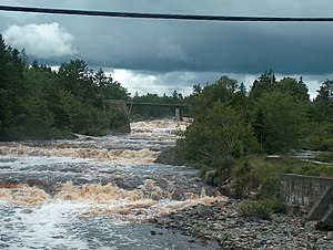 Sheet Harbour, Nova Scotia - West River Falls, where the West River empties into the Northwest Arm.
