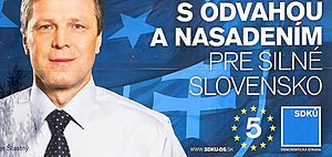 Peter Šťastný - Photo of Peter Šťastný's 2009 campaign for election to the European Parliament
