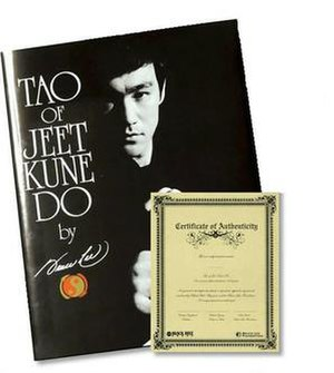 Tao of Jeet Kune Do - Cover of the 2006 Limited Edition Collector's Edition book with certificate of authenticity.
