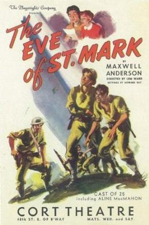 The Eve of St. Mark - Original Broadway cast poster