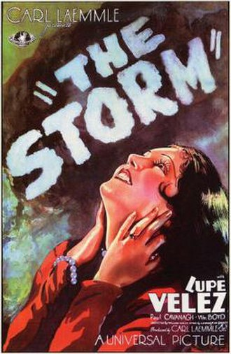 The Storm (1930 film) - Theatrical release poster