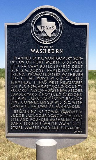 Washburn, Texas - Town of Washburn Historical Marker