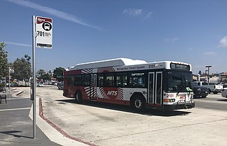 San Diego Metropolitan Transit System - MTS bus operating in Chula Vista, CA.