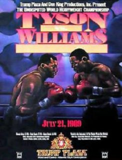Mike Tyson vs. Carl Williams Boxing competition