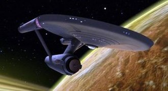 USS Enterprise (NCC-1701) - The starship USS Enterprise in a promotional image for the digitally remastered Star Trek