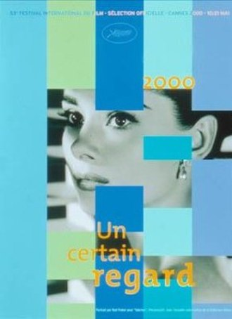 2000 Cannes Film Festival - 2000 Un Certain Regard poster featuring a still of Audrey Hepburn in Sabrina by Bud Fraker