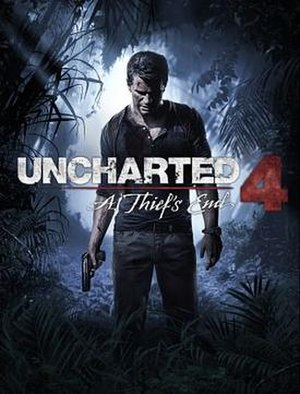 Uncharted 4: A Thief's End - Image: Uncharted 4 box artwork