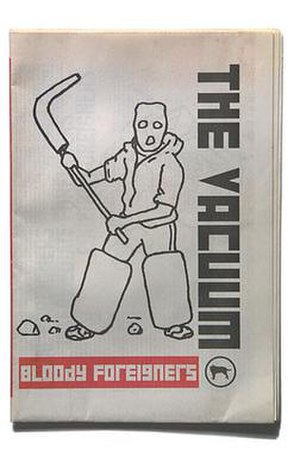 The Vacuum - The cover of the 'Bloody Foreigners' issue of The Vacuum, 2003, illustration by Duncan Ross.