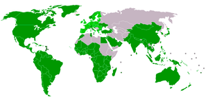 Current members of the World Trade Organisation.