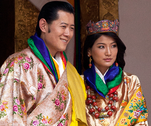 Wedding of Jigme Khesar Namgyel Wangchuck and Jetsun Pema - Jigme Khesar Namgyel Wangchuck and Jetsun Pema on their wedding day.