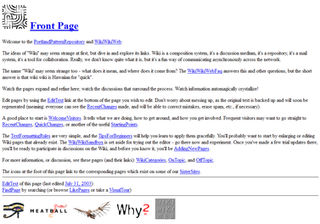 WikiWikiWeb First user-editable website