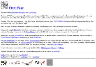 WikiWikiWeb - Image: Wiki Wiki Web screenshot
