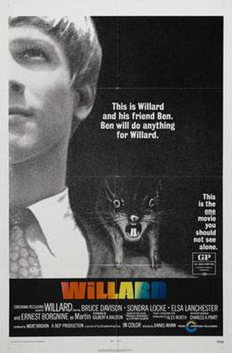 Willard (1971 film) - Theatrical release poster