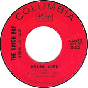 Young Girl (song) - Image: Young Girl 45rpm label
