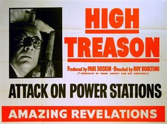 High Treason (1951 film) - Original British quad poster