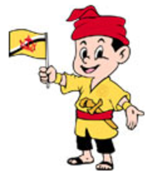 1999 Southeast Asian Games - Awang Budiman, the child, the official mascot of the games.