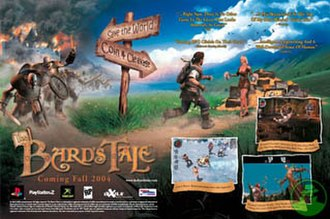 The Bard's Tale (2004 video game) - Image: 2004 In Xile Bard's Tale ad