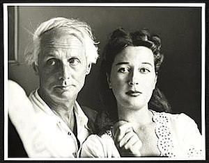 Dorothea Tanning - Max Ernst and Dorothea Tanning in 1948. Photo by Robert Bruce Inverarity in the Smithsonian Institution collection.