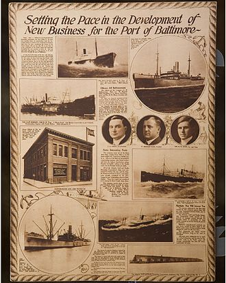 Farrell Lines - Ships - Charles H. Cramp (upper right and Henry S Grove (lower left)