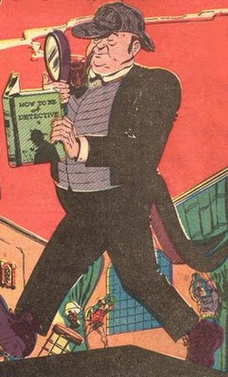 Alfred Pennyworth - Alfred (later named Pennyworth) in his first appearance ever, as an overweight, bumbling detective