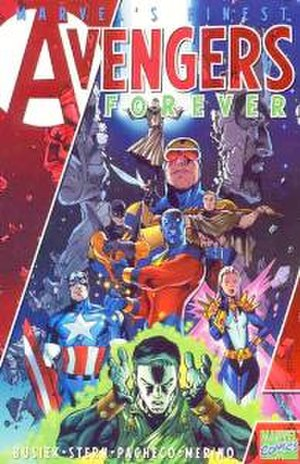 Avengers Forever - Cover to Avengers Forever trade paperback (2000). Art by Carlos Pacheco