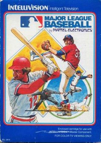 Baseball (Intellivision video game) - Intellivision cover art