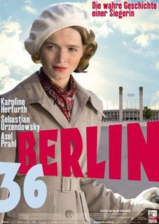 <i>Berlin 36</i> 2009 film set in the Olympic games in fascist Germany directed by Kaspar Heidelbach