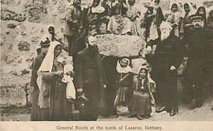 John Lawley - William Booth (right) and Lawley (centre) at the Tomb of Lazarus (1905)