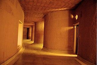 Banasura Hill Resort - The corridor inside the main building.