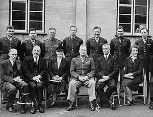 Joseph Bacon Fraser - (England), 1944. Colonel Joseph B. Fraser (seated, center) and other military and political figures during wartime