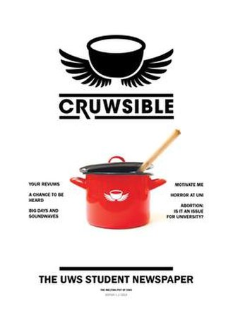 Cruwsible - Front cover of Cruwsible Issue 1, 2013