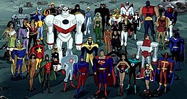 An image of many of the DCAU heroes.