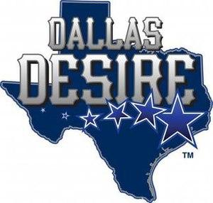 Dallas Desire - Image: Dallas Desire logo blue