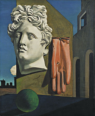 Giorgio de Chirico - The Song of Love, 1914, oil on canvas, 73 × 59.1 cm, Museum of Modern Art, New York