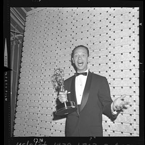 Don Knotts - Knotts receives his first Emmy Award for The Andy Griffith Show, 1961.
