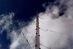 Folded unipole antenna - Folded unipole on a standard mast