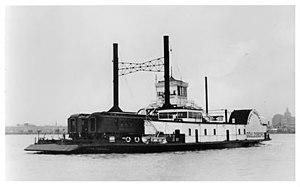 USS Chickasaw (1864) - The train ferry Gouldsboro, ca. 1938