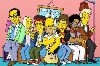 How I Spent My Strummer Vacation - Image: Homer with musical guests