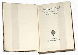 Journey's End - Brentano's Publisher's first edition, 1929