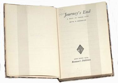 Journey's End Bretano 1929