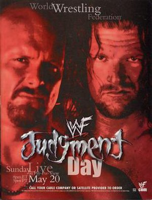 Judgment Day (2001) - Promotional poster featuring Steve Austin and Triple H